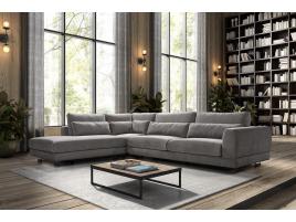 Canapé d'angle cuir ou tissu