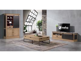 Meuble TV bois et métal
