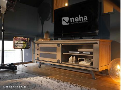 Meuble TV portes coulissantes