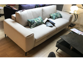 Canapé 3 places fixe gris
