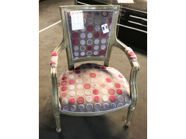 Fauteuil tissu pois rose