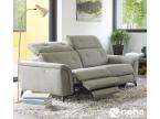 Canapé relaxation en tissu gris moderne piètement design