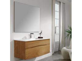 Meuble salle de bain bois L130cm double vasque