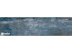 Carrelage aspect bois vieilli bleu azur