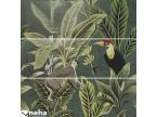 faience décorative tropic jungle vert