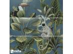 Faience décorative tropic jungle toucan