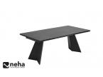 Table de repas noir piètement métal