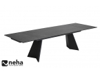 Table salle à manger plateau céramique avec 2 allonges