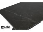 Table plateau céramique marbre noir