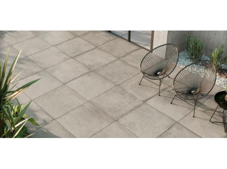 Carrelage aspect béton gris 60x60cm