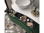 Meuble de salle de bain avec tiroir courbé design
