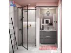 Meuble de salle de bain 3 tiroirs gris