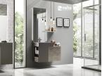 Meuble salle de bain monobloc vasque métal original