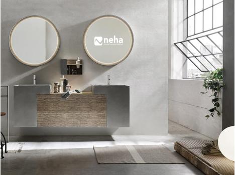 Meuble salle de bain 2 monobloc