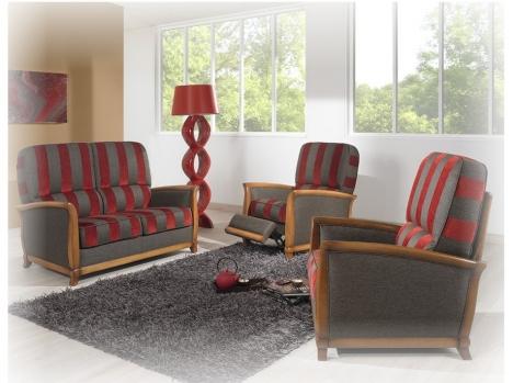 canap classique en bois style copie d 39 ancien tissu rayure ou pois nombreux choix en magasin. Black Bedroom Furniture Sets. Home Design Ideas