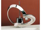 Mitigeur design lavabo chromé