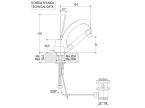 Caractéristique dimensions Mitigeur design lavabo chromé