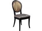 Chaise médaillon avec dossier tissu