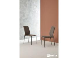 Chaise haut dossier salle à manger cuir design