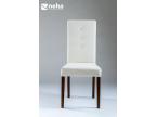 Chaise haut de dossier salle a manger en tissu moderne