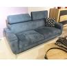 Canapé 2 places tissu bleu