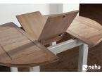 Table avec allonge centrale en bois
