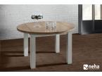 Table ronde bois avec allonge