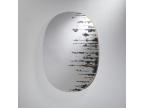 Miroir ovale effet peinture