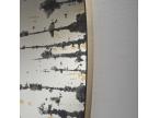 Miroir effet peinture noir et or