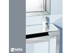 Meuble d'entrée en miroir et tiroir de rangement