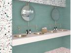 Faience et décor turquoise 50x20cm