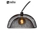 Grand lampadaire ajouré noir