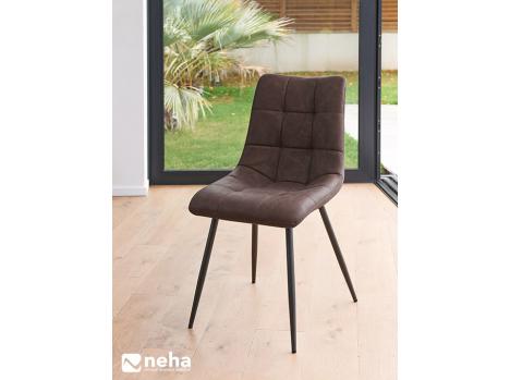 Chaise assise en tissu enduit