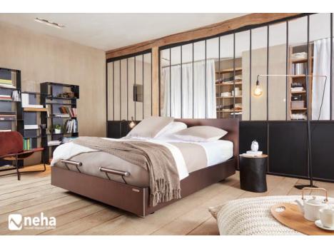 Tête de lit droite en bois andré renault