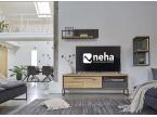 Meuble TV bois et béton