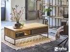 Table basse bois et béton