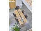 Table de repas avec insert béton