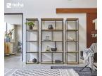 Bibliothèque ouverte en métal