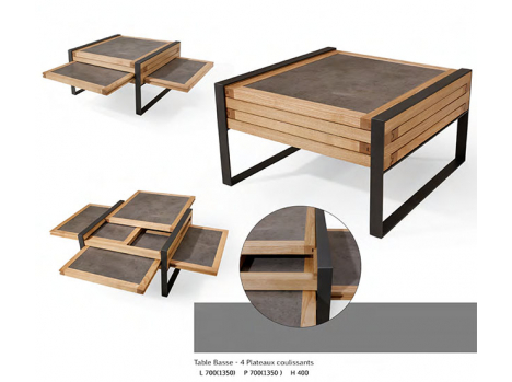 Table de salon évolutive