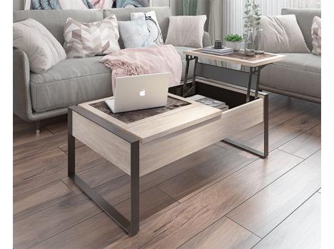 Table de salon dinette plateau céramique