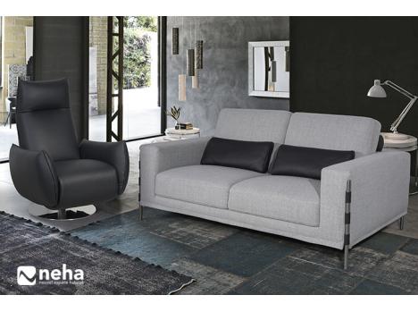 Canapé avec piètement métal original