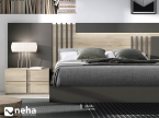 Tête et cadre de lit moderne