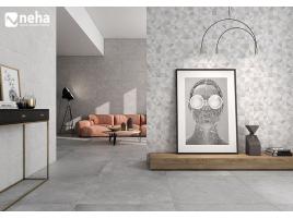 Faience décor L90 x 30cm
