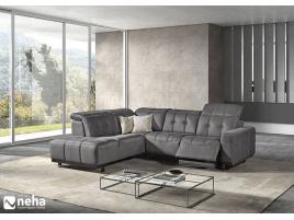Canapé d'angle tissu ou cuir