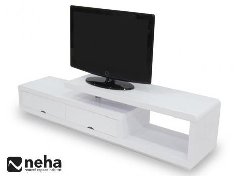 Meuble TV 2 tiroirs et 1 niche