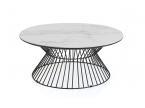 Table basse ronde céramique marbre