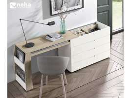 Commode plateau coulissant