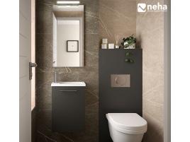 Habillage bati WC + lave main